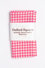 pink and white houndstooth pattern pocket square - Oxford Square