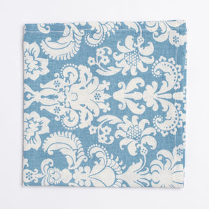 blue and white floral pattern pocket square - Oxford Square