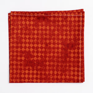 orange diamond pattern pocket square - Oxford Square