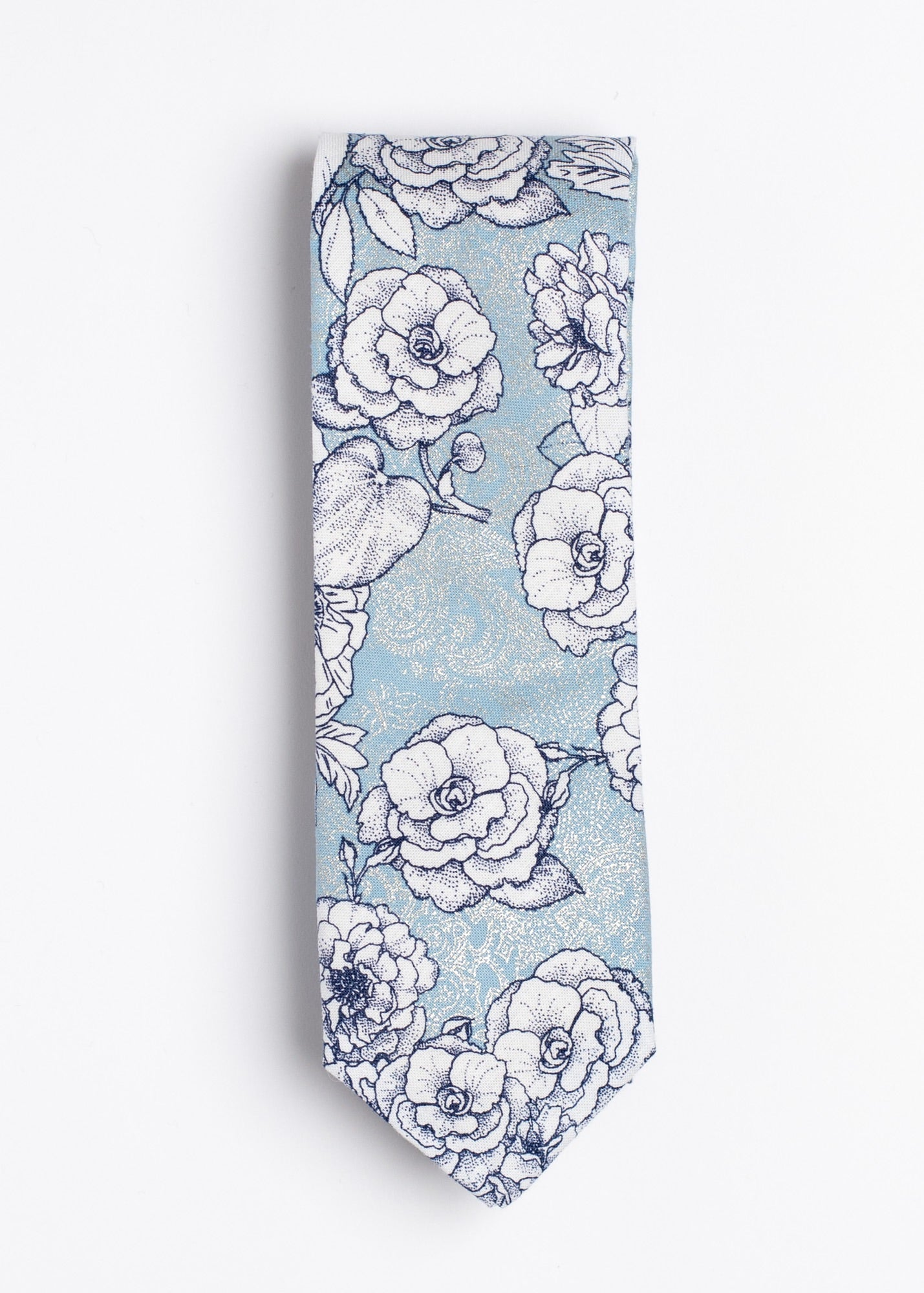 "blue and white floral pattern necktie - The ""I Believe You're Killin' Me Smalls!"" Tie and Square Pack. - Oxford Square"