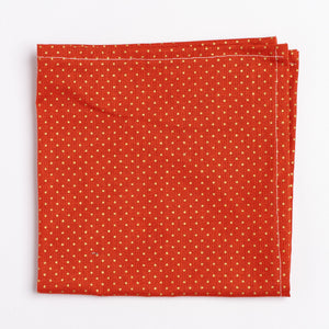 orange and gold polka dot pattern pocket square - Oxford Square
