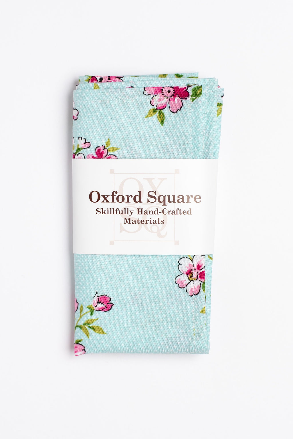 blue and pink floral pattern pocket square - Oxford Square