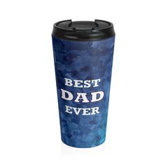 Best Dad Ever Stainless Steel Travel Mug, Blue