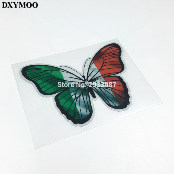 1 PCS Motorcycle Racing Decals Butterfly Italy Flag  VESPA Sticker