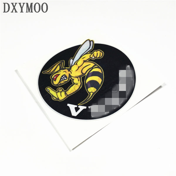 10x10cm   Honeybee Motorcycle VESPA  Sticker