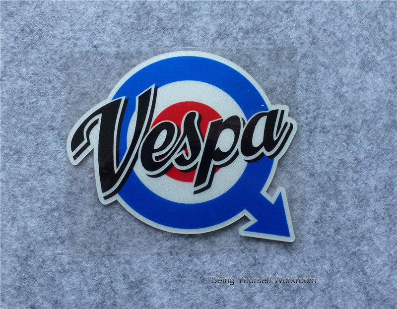Reflective Concentric Circles  Vespa Sticker