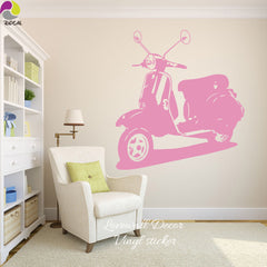 Italy Vespa  Motorcycle Wall Sticker