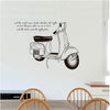 Vespa Motorcycle Elegant Removable PVC Wall Stickers