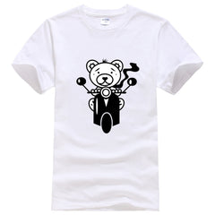 A Little Bear Travels With Vespa Men T Shirt