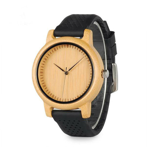 Classic Bamboo Silicone Watch - That's So Handy