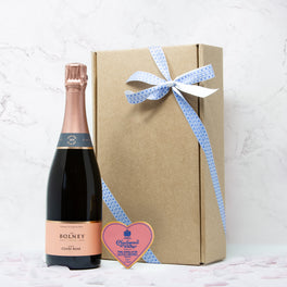 Mother's Day Sparkling Rosé Wine & Chocolate Gift Box