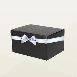 Black Hamper Box with Ribbon