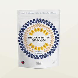 Great British Porridge Company Blueberry and Banana Porridge