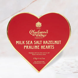 Charbonnel et Walker Sea Salt Hazelnut Praline Heart Truffles