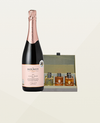 Sparkling Rosé and Noble Isle Toiletries