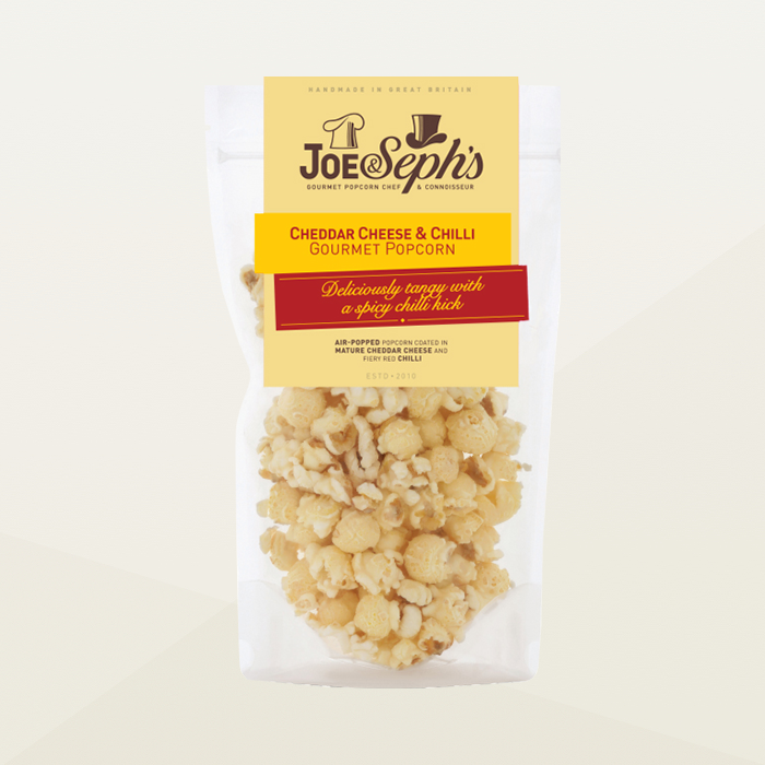 Joe & Seph's Cheddar Cheese & Chilli Popcorn