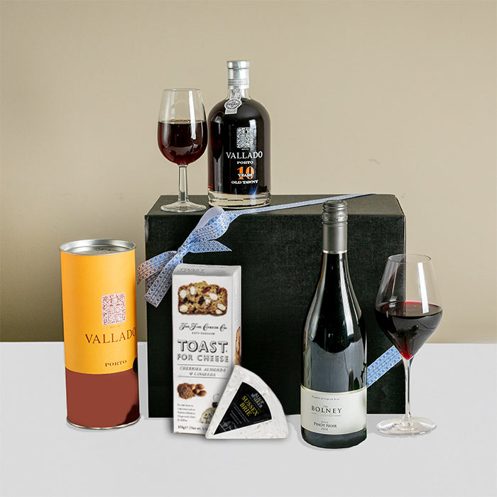 Luxury Port, Wine & Cheese Gift Box
