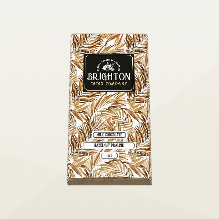 Brighton Cacao Company Milk Chocolate Hazelnut Praline Bar