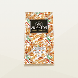 Brighton Cacao Company Milk Chocolate Orange & Lime Bar