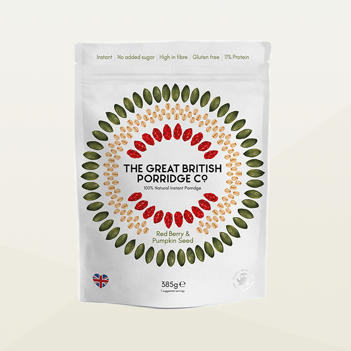 Great British Porridge Company Red Berry and Pumpkin Seed Porridge