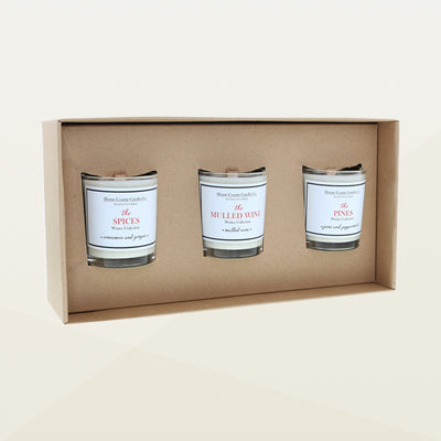 Home County Candle co Votive Christmas Trio Candle Gift Set