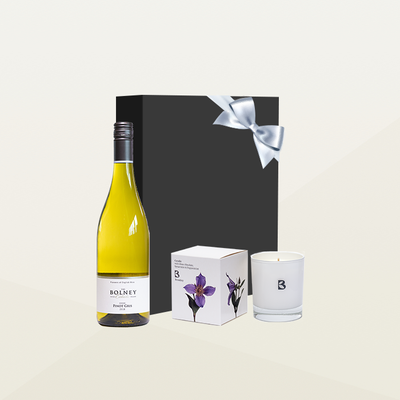 Wine and Candle Gift Box