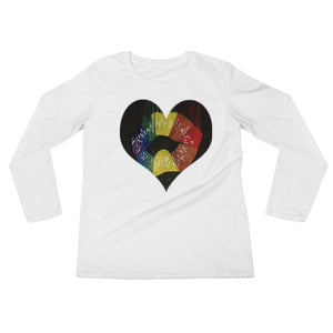 Ladies' Long Sleeve Heart Hot Lips T-Shirt