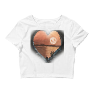 Women's Crop HEART Cave Tee