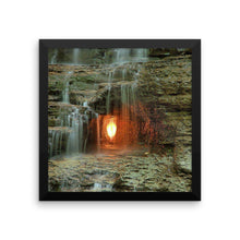 Framed 'Eternal Flame Falls' poster