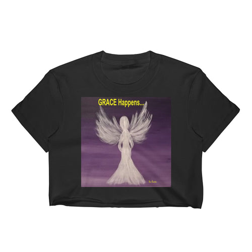 Women's Crop Grace Happens Angel Top