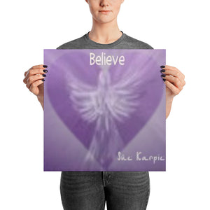 Photo paper BELIEVE Angel-HEARTs poster
