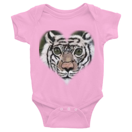 Infant Bodysuit White Tiger Head Shot