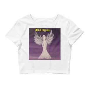 Women's Crop GRACE Happens Tee
