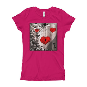 Girl's HEART Key V-Day T-Shirt