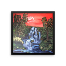 Framed photo paper Water Falls poster