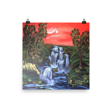 Photo Water Falls paper poster
