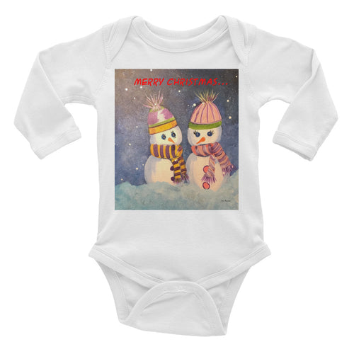 Infant Long Sleeve SnowPeople Bodysuit