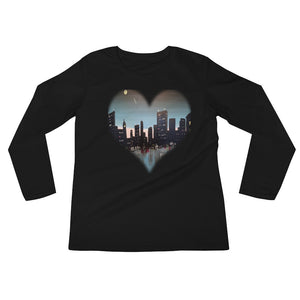 Ladies' Long Sleeve Downtown Heart T-Shirt