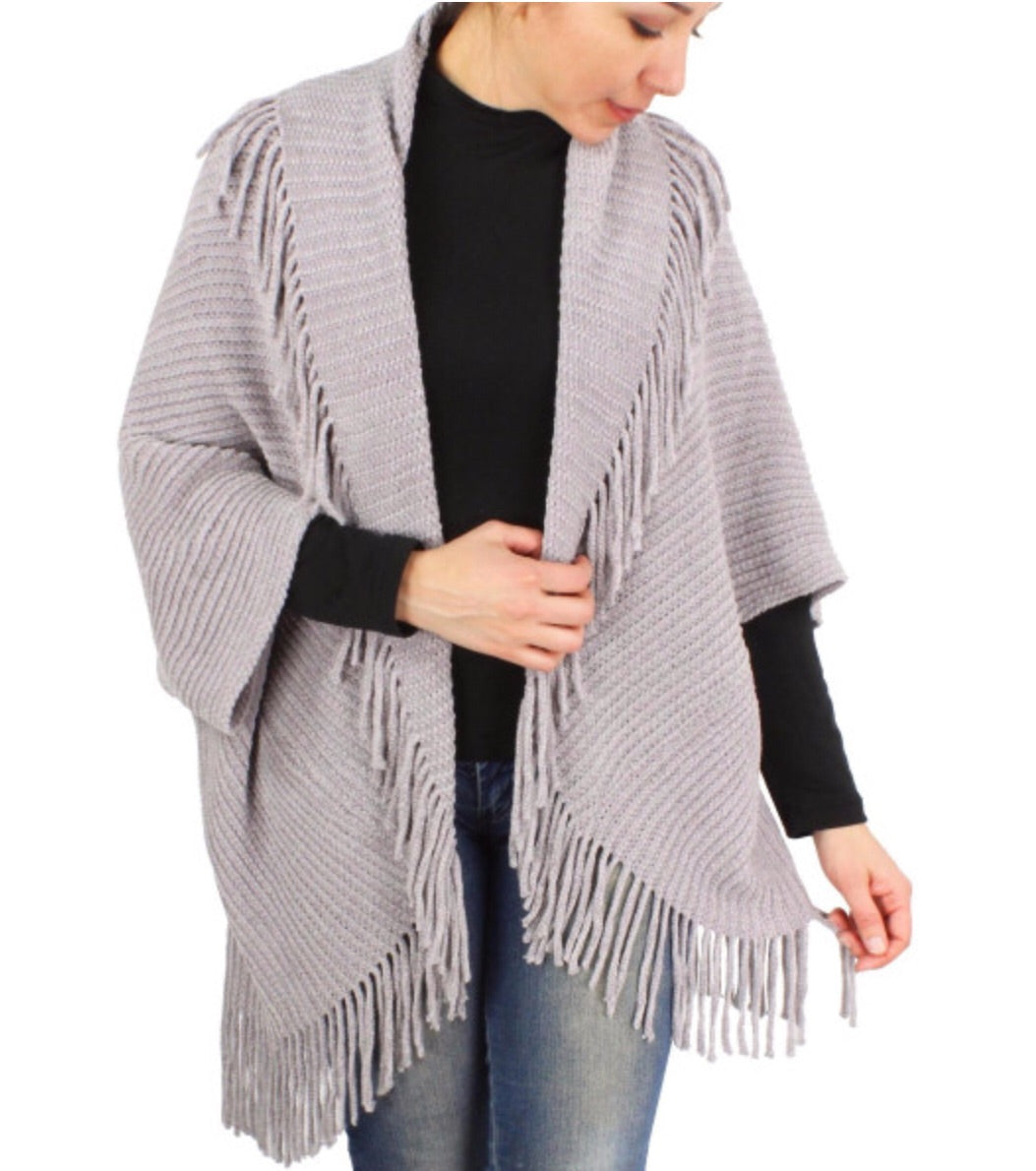 Solid Fringed Cardigans