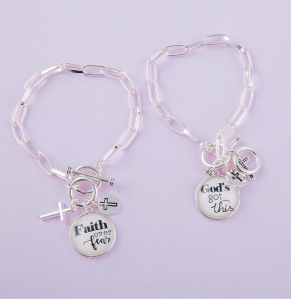 Faith/God Bangle Bracelet