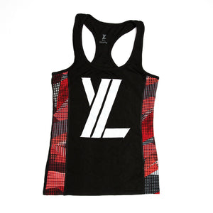 YL Logo Tank Top in Black & Red