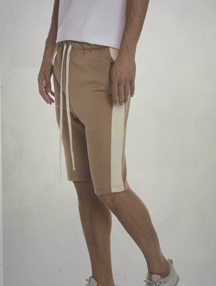 Track Shorts in Khaki