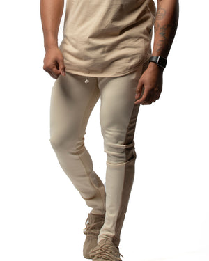 Everyday Trackpants in Tan & White