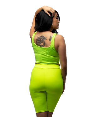 Go To Biker Set in Highlighter Green