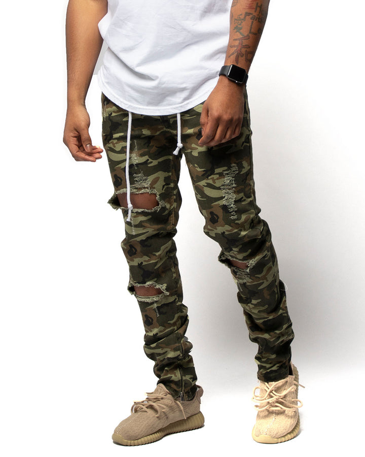 YL Denim Jeans in Camo