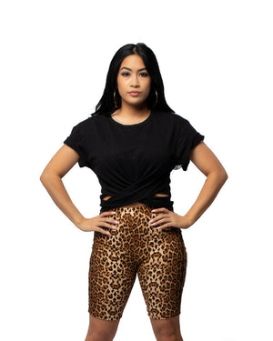 Ready Biker Shorts in Leopard