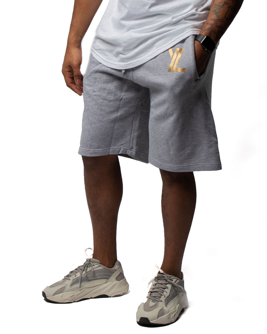 YL Fleece Shorts in Grey