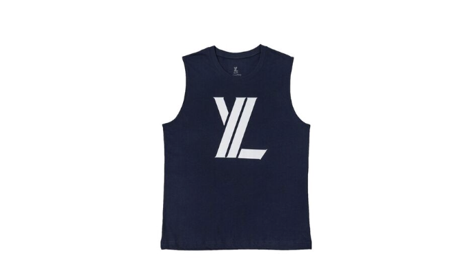 YL Logo Tank Top in Navy
