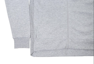 YL Logo Zip-Up Hoodie in Grey