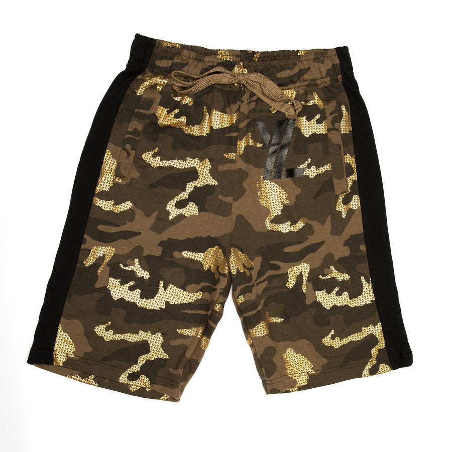 YL Logo Shorts in Camo